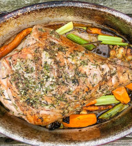 Slow-Cooked Roast Leg of Lamb