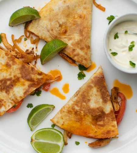 Pulled Chicken Quesadilla's