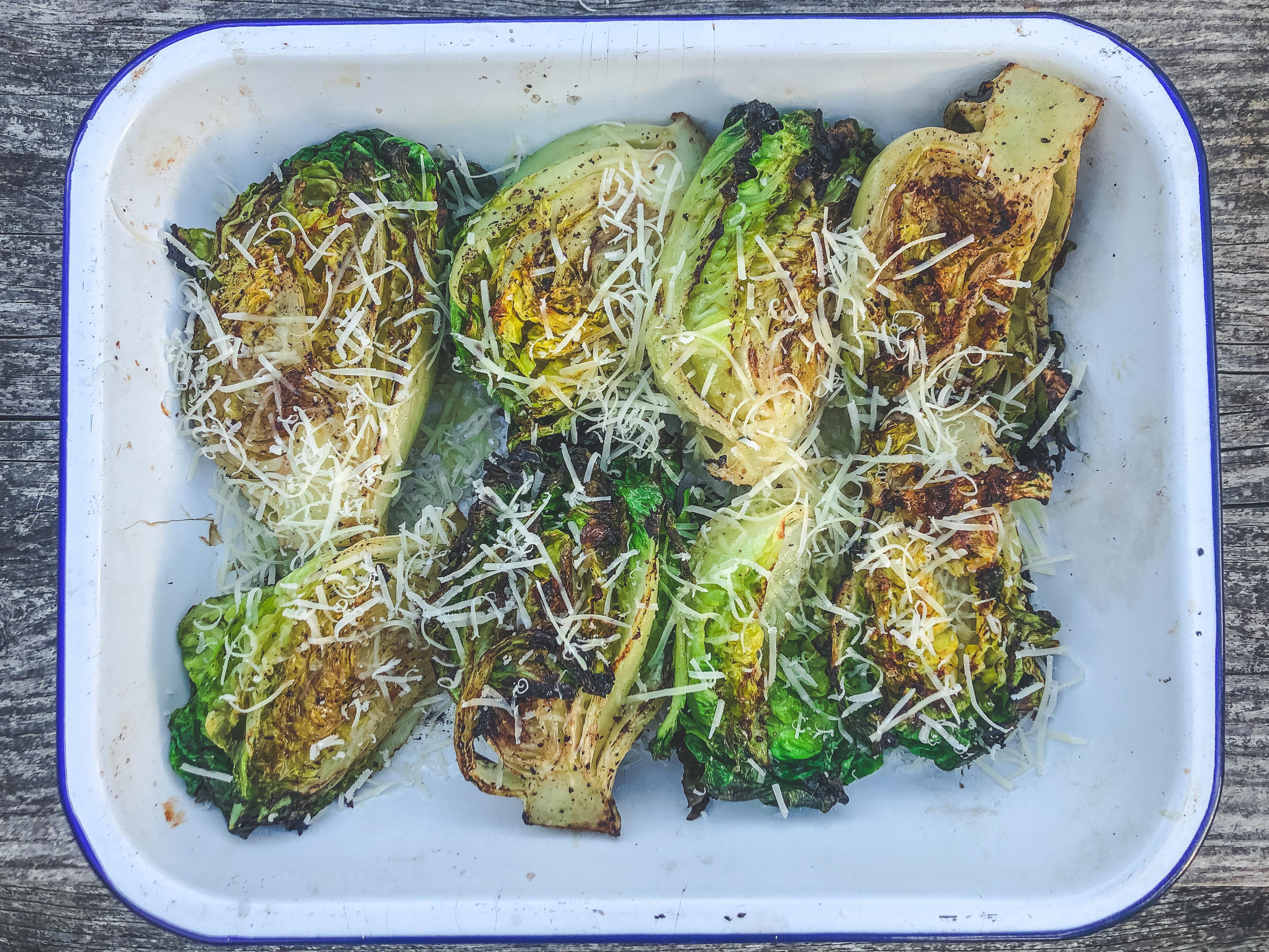 SIDES: Grilled Cos/Little Gem Lettuce