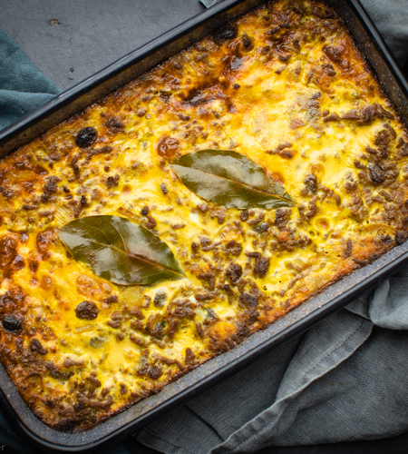 Bobotie. A traditional South African recipe
