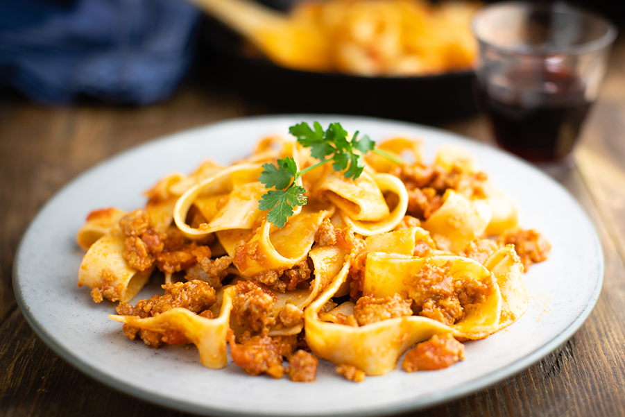A simple sausage meat ragu