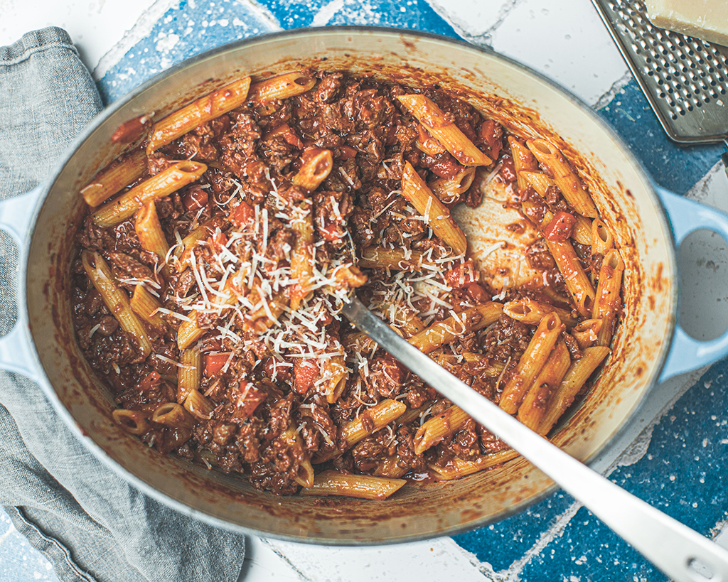 Slow-cooked Penne Bolognese