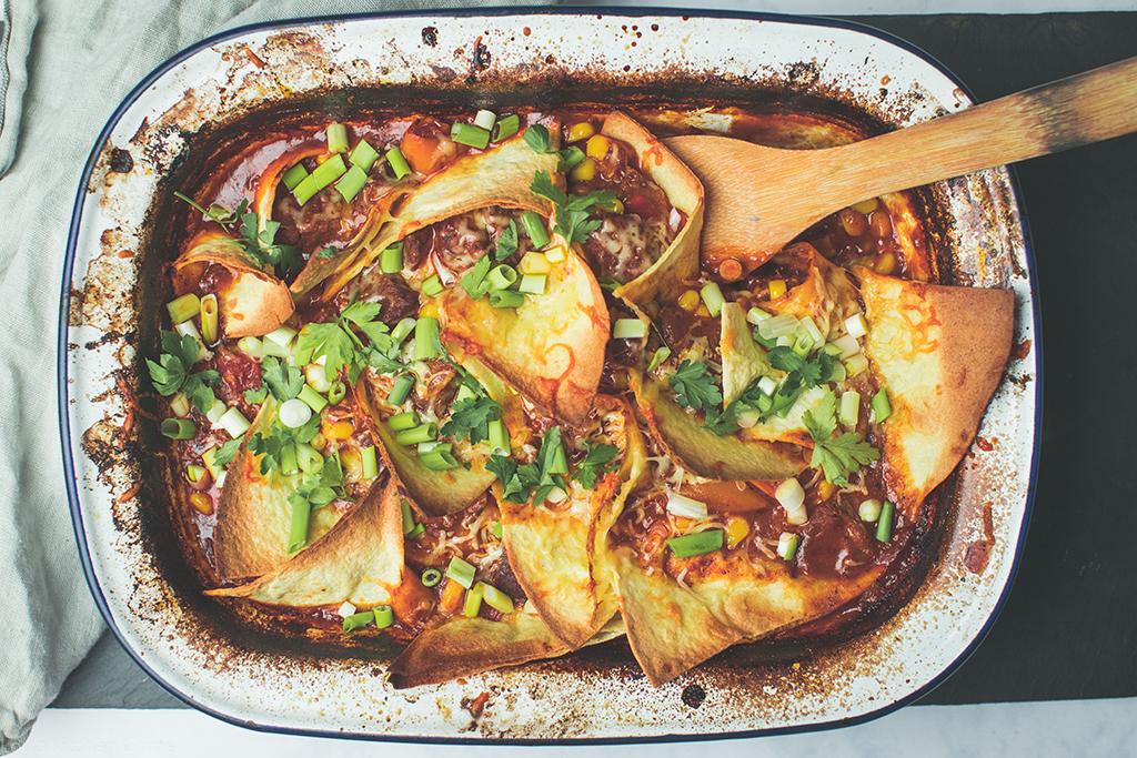 Easy beef taco bake recipe
