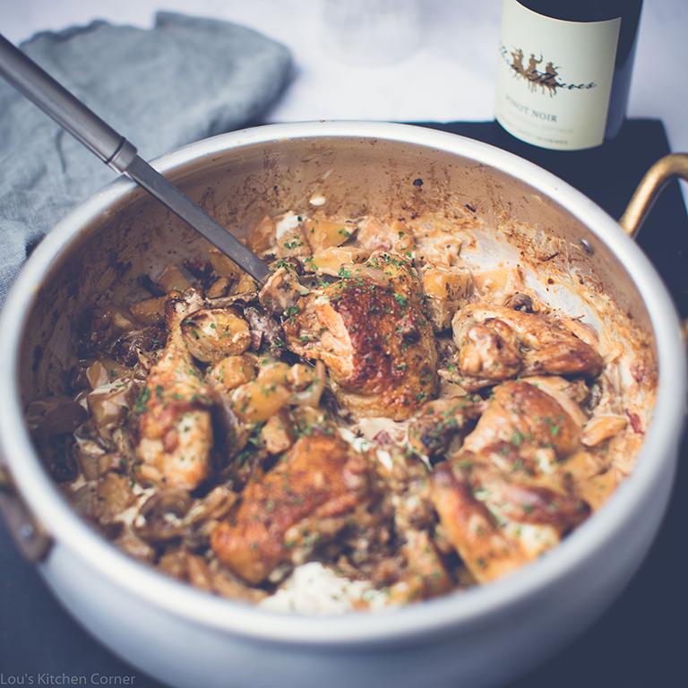 chicken & porcini mushrooms recipe