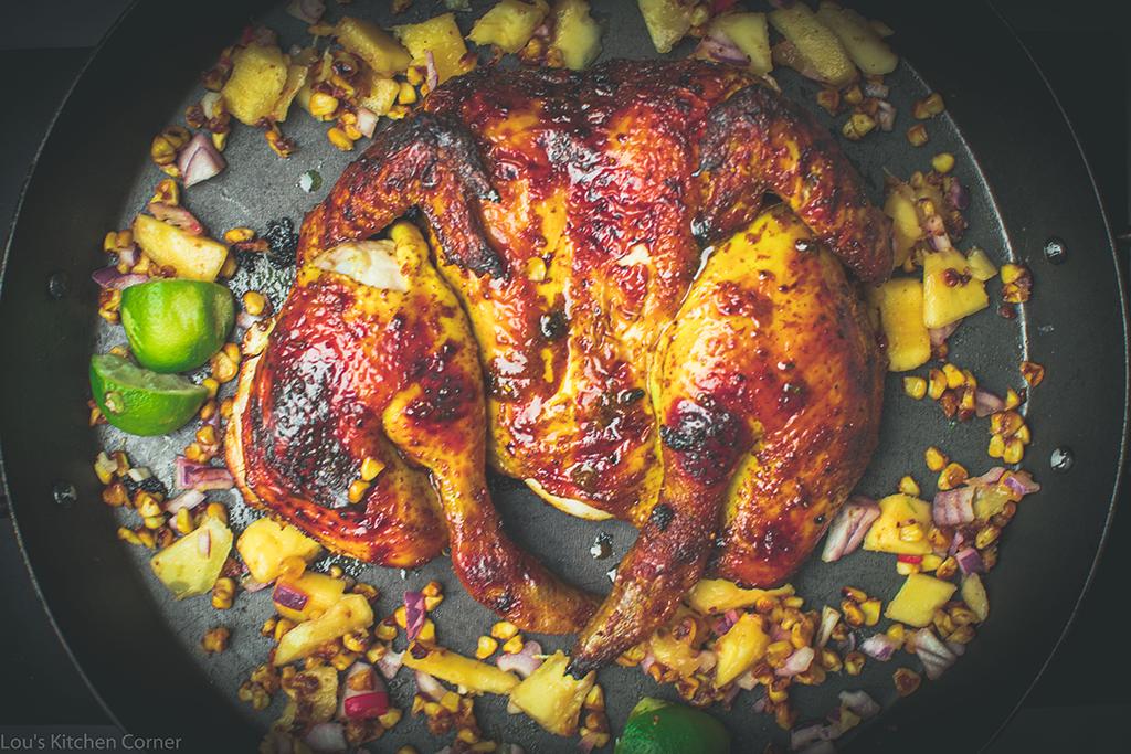 Spatchcock masala chicken