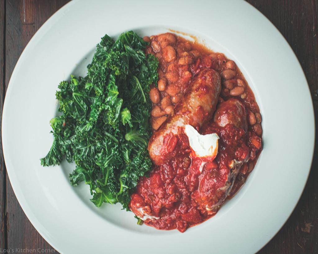 italian sausages with borlotti beans & nduja