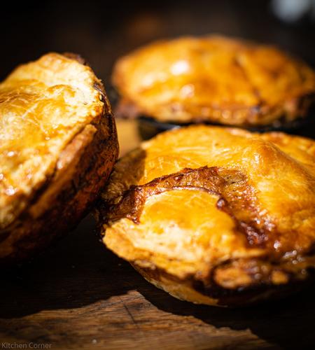 Classic Kiwi chunky steak pie