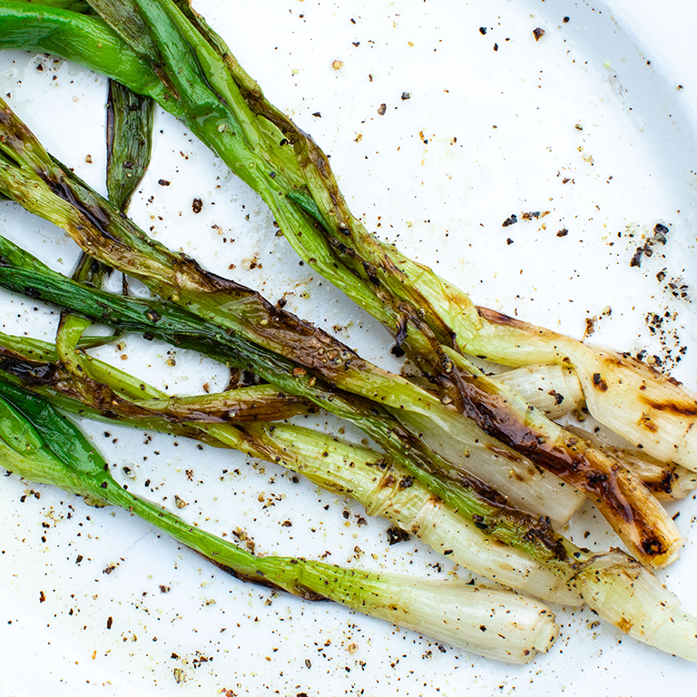 grilled spring onion
